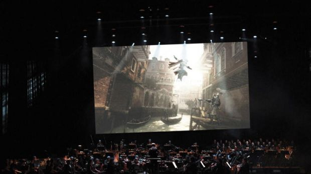 The MSO in rehearsal for <i>Video Games Unplugged</i>.