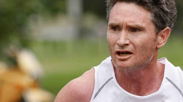 Life's a sprint ... Dave Hughes competes in The Sunday Age City2Sea run last year.