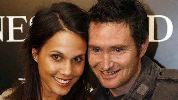 Two kids at home ... Dave Hughes and wife Holly.