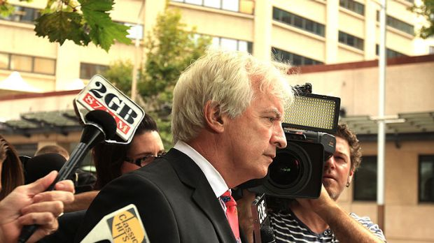 Worried ... Matthew Newton's lawyer Chris Murphy outside court in January.