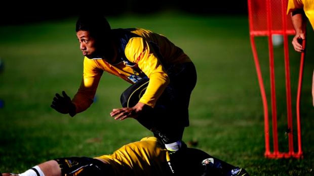 Brumbies player Christian Lealifano at Brumbies training University of Canberra oval.