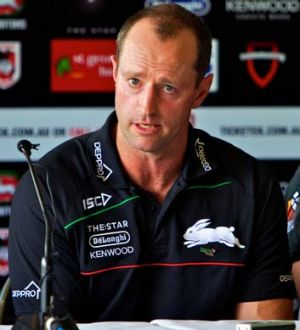 """The shoulder charge is part of the game - as long as it is not near the head"" ... South Sydney coach Michael Maguire."