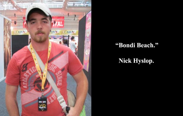 Nathan Hyslop at Sexpo.