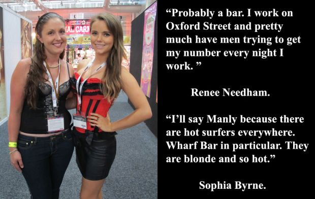 Renee Needham and Sophia Byrne at Sexpo.
