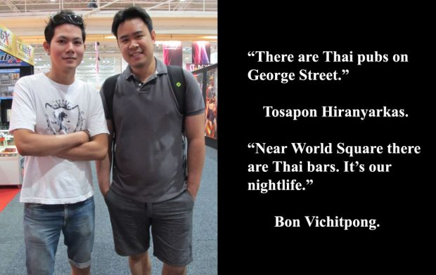 Tosapon Hiranyarkas and Bon Vichitpong at Sexpo.