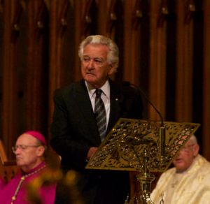 Bob Hawke said reports of Lionel Bowen's integrity, decency, honesty, loyalty and humility were 'all true'.