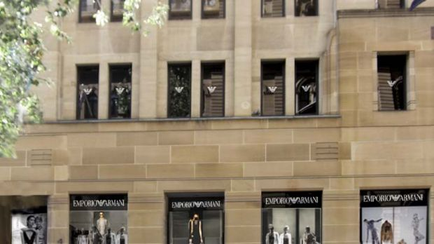 Emporio Armani ... the brand's refurbished Sydney store in Martin Place.