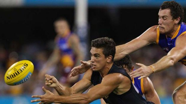 Turnaround: Andrew Carrazzo is now one of the AFL's best ball-users.