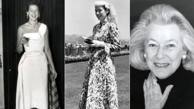 Glamorous ... left and middle, a young and fashionable Sheila Scotter in the 1950s and right, after being made a member ...