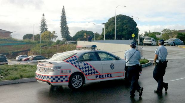 Police at the scene of an Eight Mile Plains shooting.