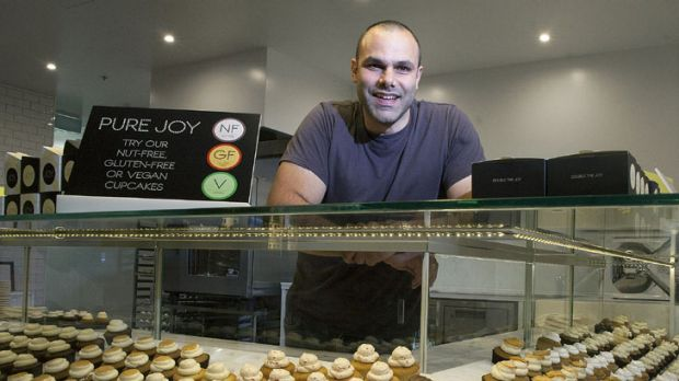A little bit of joy ... Michael Diamandis at his Joy Cupcakes store in Southbank.
