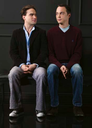Geek chic ... Leonard (Johnny Galecki) and Sheldon (Jim Parsons), stars of Big Bang Theory.