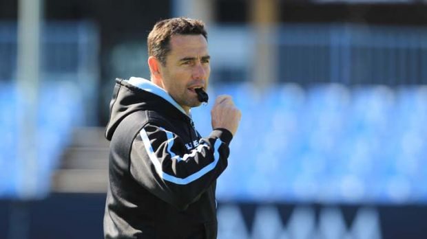 In charge … Shane Flanagan at Cronulla training this week.