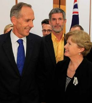 Yesterday announcing his retirement with new leader Christine Milne, and partner Paul Thomas.