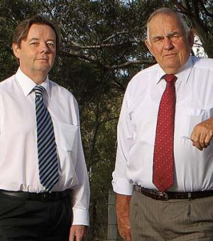 The mayor of Wollondilly, Col Mitchell, right, with his deputy, Luke Johnson.
