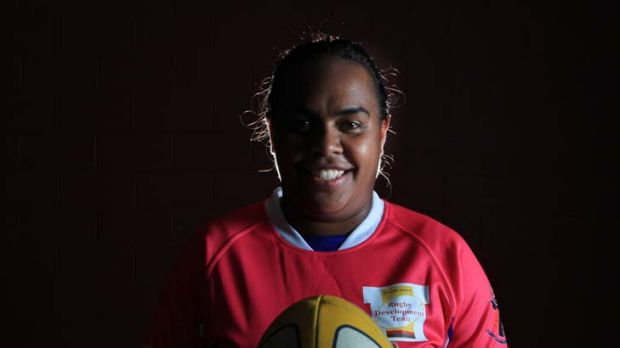 Ready ... captain of the national rugby sevens indigenous team, Lavina O'Mealey, is hoping for two group wins tomorrow ...
