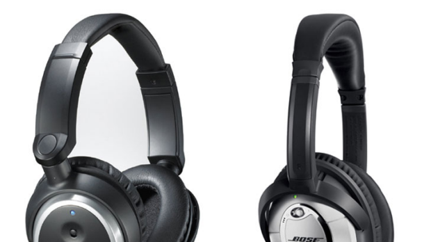 Audio-Technica QuietPoint ANC7b (left, $249); Bose QuietComfort 15 ($399).