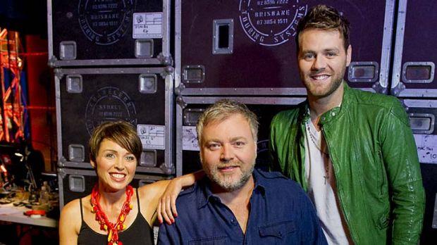 <em>Australia's Got Talent's</em> Dannii Minogue, Kyle Sandilands and Brian McFadden.