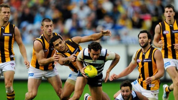 Steven Motlop giving Cyril Rioli the slip last week.