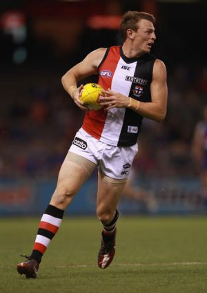 Brendon Goddard of the Saints in action.