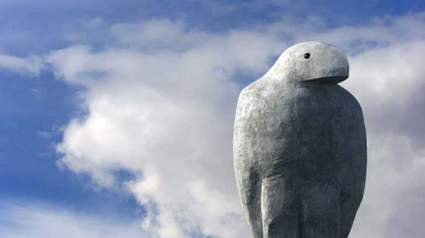 Eagle sculpture by Bruce Armstrong.