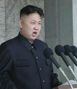 In the deadly hands of babes ... Kim Jong-un, the third generation leader of North Korea.