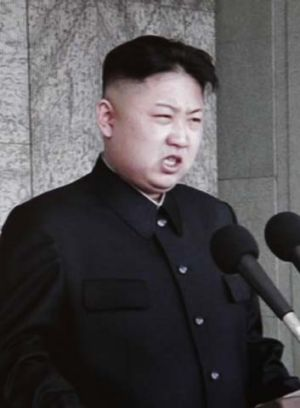 On message … Kim Jong-un eulogises his grandfather.