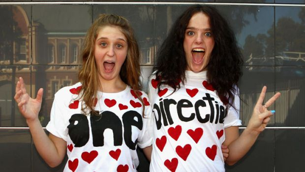 After all, it's all about the fans ... part of the One Direction cheer squad in Sydney last year.