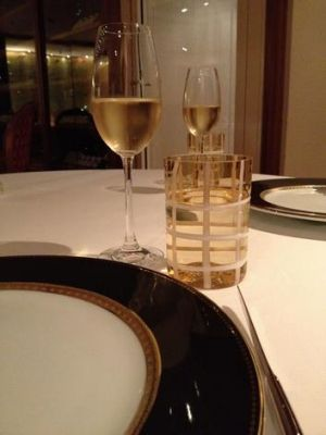 plateware in the Relaix and Chateaux restaurant on board the Silver Shadow cruise boat.