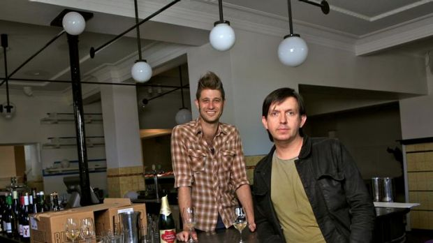 Anthony Hammond and Andrew McConnell at the Builders before last week's opening.