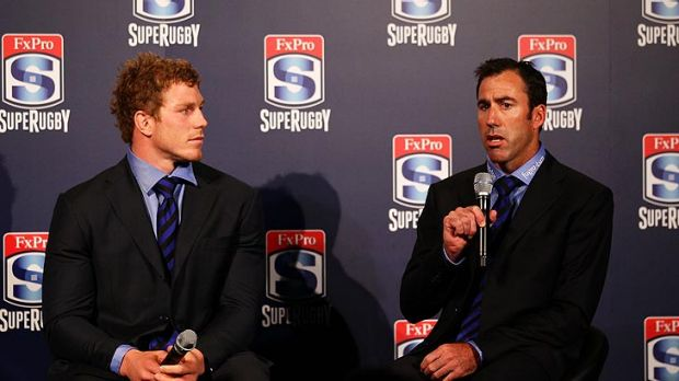 Coach Richard Graham (right) is departing at season's end but keeping David Pocock will be a priority for the Western Force.