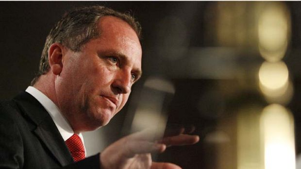 """""""The government's economic modelling of the basin plan is a complete farce"""" ... Barnaby Joyce."""