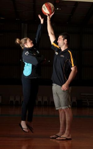 12 April 2012, Sport, Journalist: Jon Tuxworth, Canberra Times Photo by Jeffrey Chan. Canberra Capitals player Nicole ...
