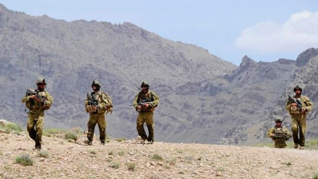 Three Australian soldiers have been wounded in a bombing in Afghanistan.
