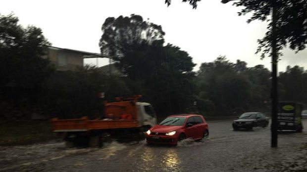 Flash flooding ... Baronga Avenue, Queens Park.