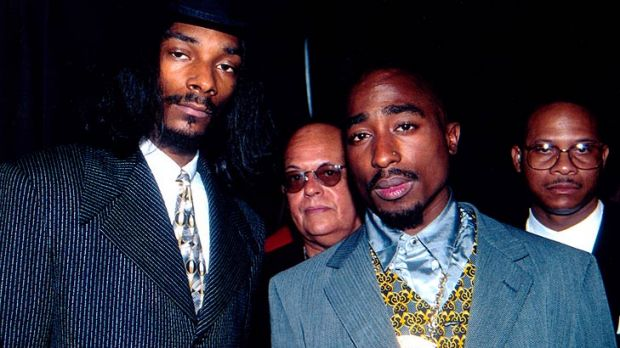 As they were ... Snoop and Tupac in the late rapper's heyday.