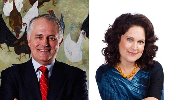 Top tweeters ... Malcolm Turnbull and <em>Herald</em> columnist Annabel Crabb.
