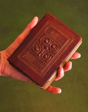 Remarkably preserved ... the St Cuthbert Gospel, a  palm-sized book of the Gospel of John in Latin, which was bought by ...