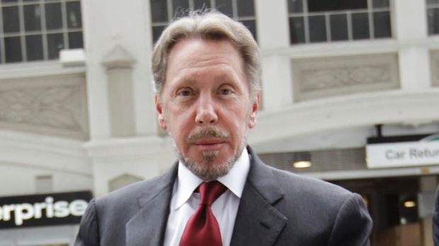 Oracle CEO Larry Ellison arrives for a court appearance in San Francisco on Tuesday April 17, 2012.