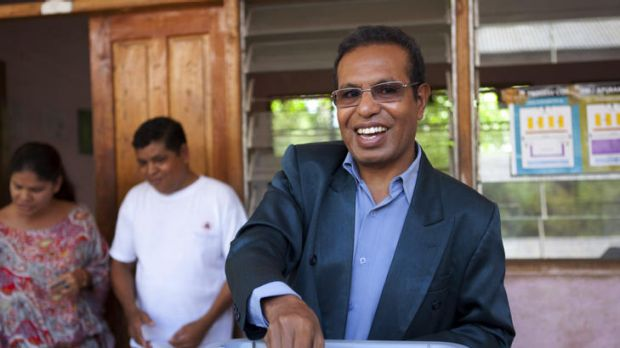Victory ... Taur Matan Ruak votes in the second round of the presidential elections in  Dili, East Timor. Mr Ruak won 61 ...
