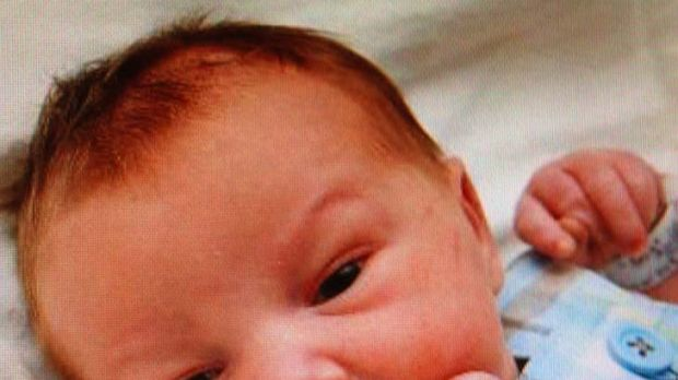 Abducted ... a three-day-old boy named Keegan has been found safe six hours after being taken.