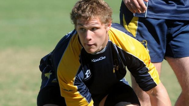 Brumbies player Michael Hooper at team training at Marist College in Pearce on April 15.