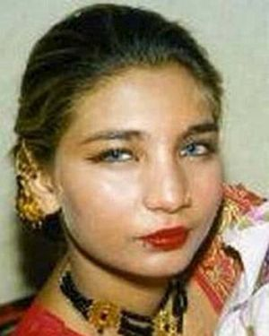 Horrific … Fakhra Younus before the acid attack in 2000 carried out by her husband after she left him for abusing her.