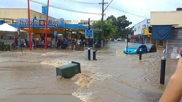 Heavy rain caused chaos in Eastwood.