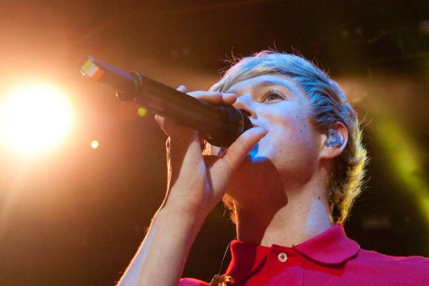 Niall Horan of the band One Direction performs at the Brisbane Convention and Exhibition Centre.