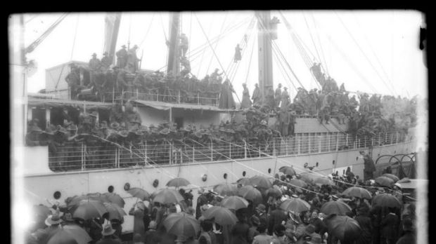 A central narrative ... troops leaving for Gallipoli in 1915.