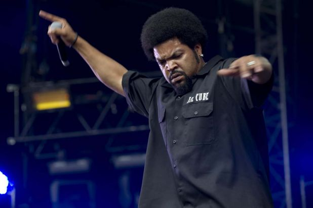 Ice Cube plays at Supafest at ANZ Stadium.