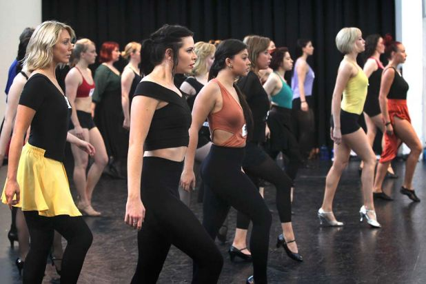 Dancers audition for 'King Kong the Musical', which plays at the Regent Theatre in Melbourne in mid-2013.
