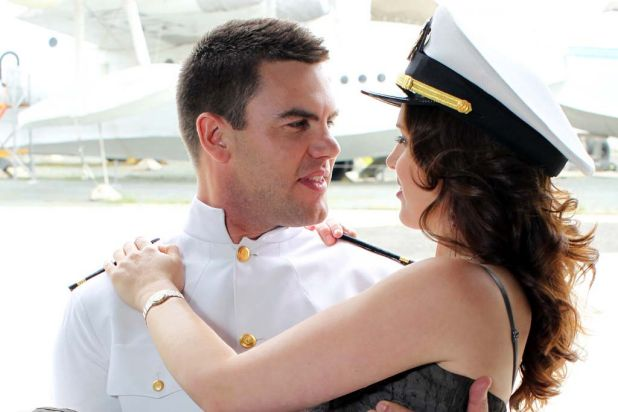 Ben Mingay and Amanda Harrison star in 'An Officer and a Gentleman', which plays at the Lyric Theatre in Sydney from May 18.