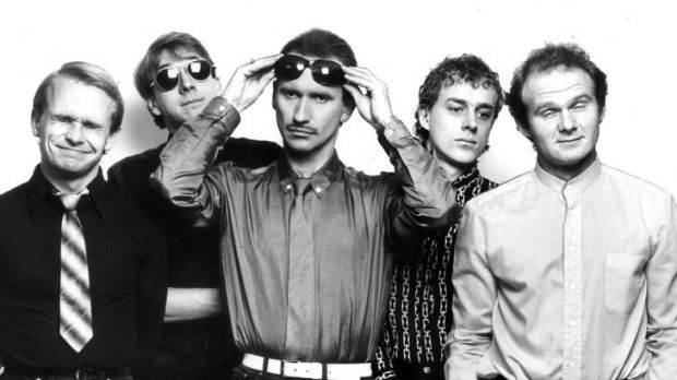 Success ... Men At Work at the height of the band's fame in 1983, with Greg Ham on the left.
